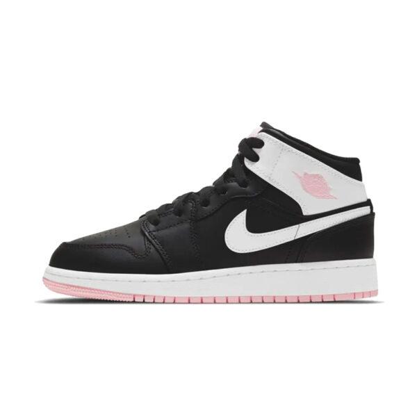 Air Jordan 1 Mid Arctic Pink Black GS