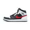 Air Jordan 1 Mid Black Chile Red White