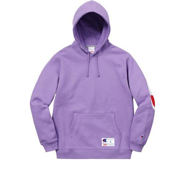 Supreme Champion Hooded Sweatshirt Light Purple