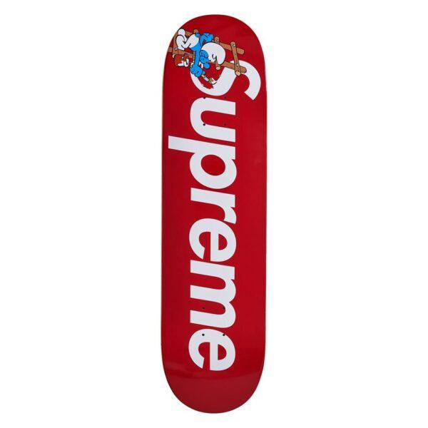 Supreme x Smurfs Skateboard Red