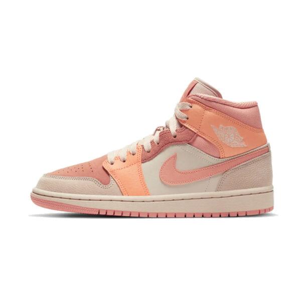 Air Jordan 1 Mid Apricot Orange Terra Blush