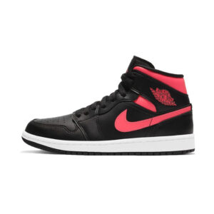 Air Jordan 1 Mid Black Siren Red