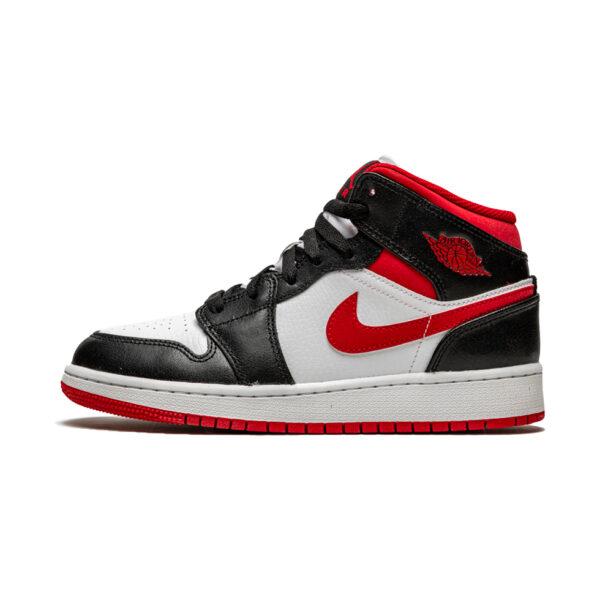 Air Jordan 1 Mid Gym Red Black White (GS)