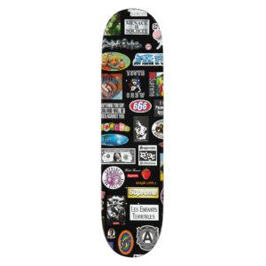 Supreme Stickers Skateboard Deck Black