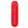 Supreme x KAWS Chalk Logo Skateboard Deck Red