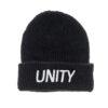 Unity Classic Logo Black Beanie